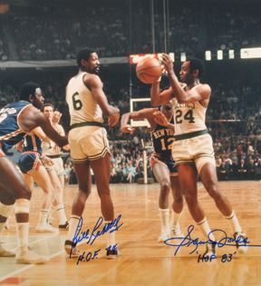 Bill Russell and Sam Jones