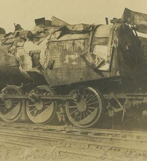 19th Century Railroad Wreckage
