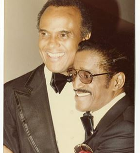 Sammy Davis Jr. and Harry Belafonte (Peter Warrack)