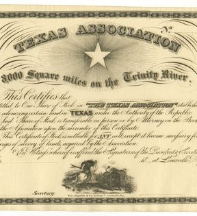 Texas Association Stock Certificate