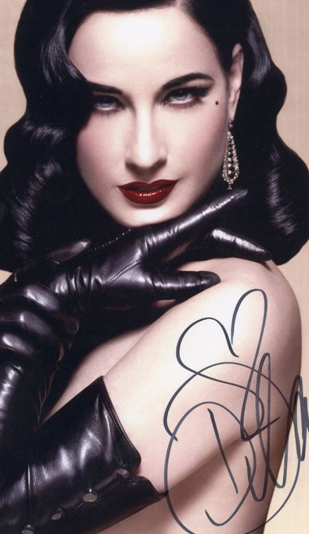 JG Autographs -  Direct source of autographs and artifacts from burlesque icon Dita Von Teese