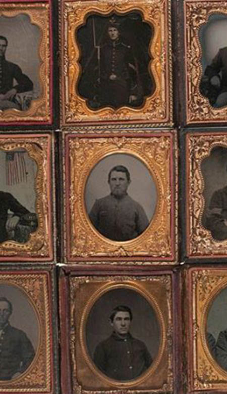 Daguerreotype process, ambrotypes and tintypes from the 1860s and 1870s, Union Cases, 19th century photography