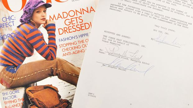 Madonna - 1992 Contract