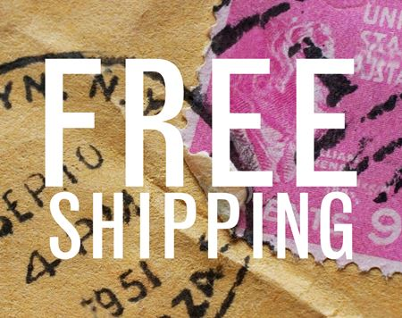 Free First Class Shipping on All Domestic Orders