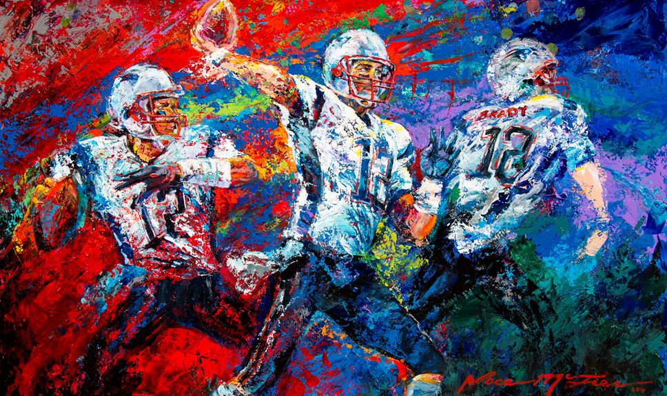 "Tom Brady ""The Release"" by Jace McTier - Benefits Best Buddies"