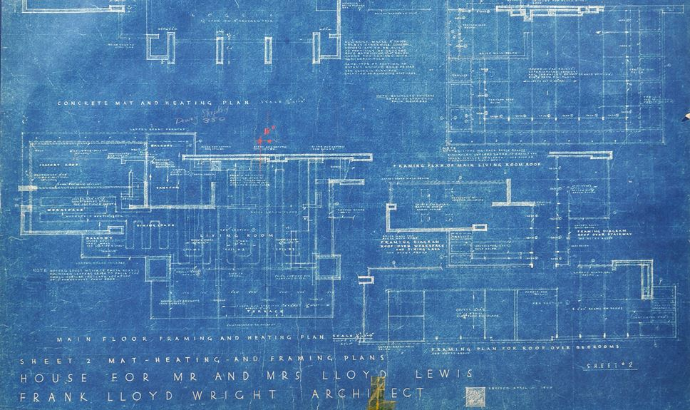 Frank Lloyd Wright - Original Blueprints