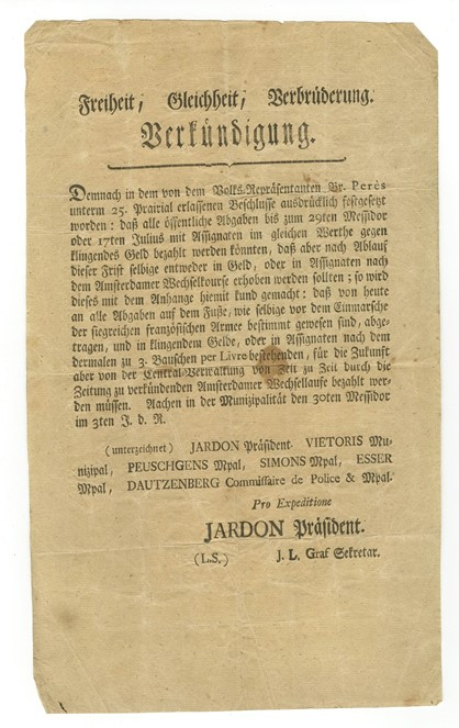 German Proclamation
