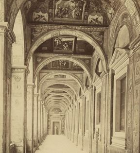 19th Century Rome, Loggia of Raphael