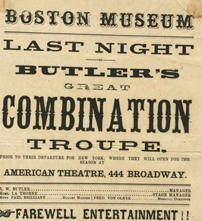 Civil War Era Theater - Boston