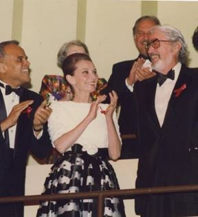 Audrey Hepburn, Gregory Peck & Harry Belafonte (Peter Warrack)
