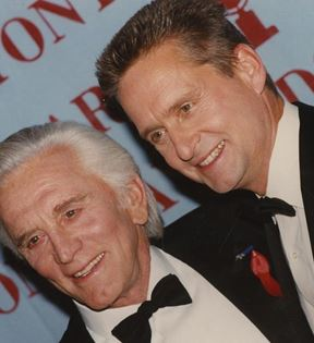 Michael and Kirk Douglas (Peter Warrack)