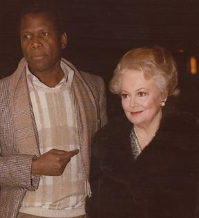 Olivia de Havilland & Sidney Poitier (Peter Warrack)